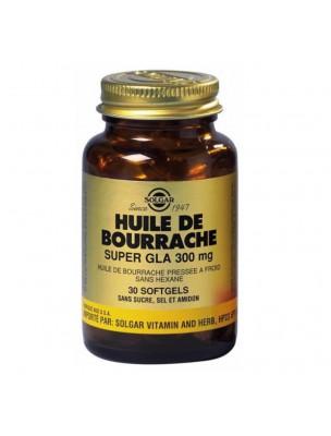 Bourrache Super GLA 300 mg - Acides Gras Essentiels 30 softgels - Solgar