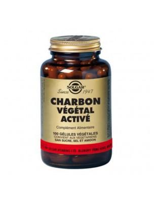 Charbon Végétal Activé - Digestion 100 gélules végétales - Solgar