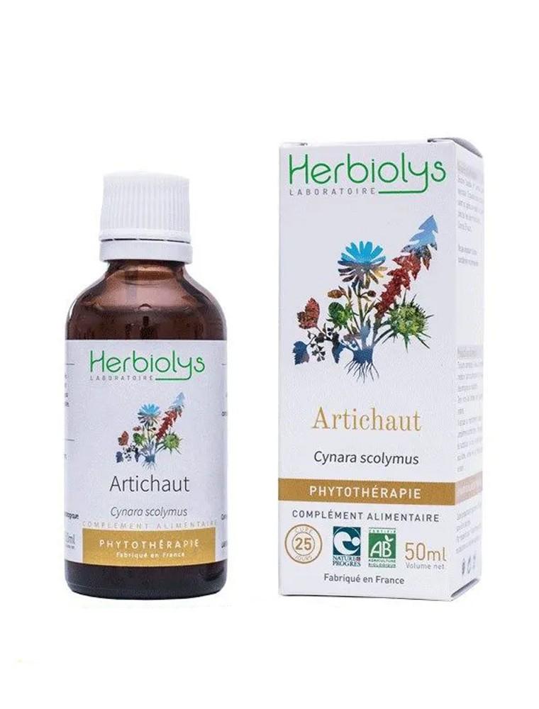 Artichaut Bio - Foie et Digestion Teinture-mère Cynara scolymus 50 ml - Herbiolys