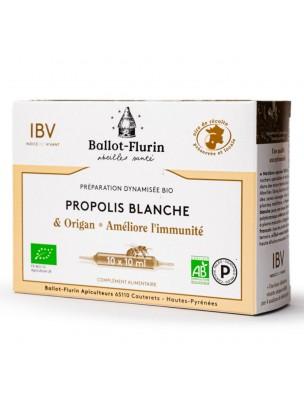 Préparation dynamisée Propolis Blanche et Origan Bio - Immunité 10 ampoules de 10 ml - Ballot-Flurin