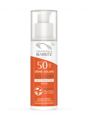 Crème Solaire Visage SPF50 Bio - Soin du visage 50 ml - Les Laboratoires de Biarritz