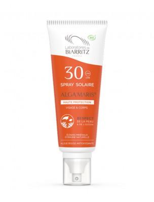 Spray Solaire Visage SPF30 Bio - Soin du visage et du corps 100 ml - Les Laboratoires de Biarritz