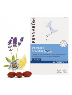 Aromanoctis Sommeil Forte Bio - Sommeil et Relaxation 30 capsules d'huiles essentielles - Pranarôm