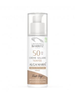 Crème Solaire Visage Teintée SPF50 Bio - Beige 50 ml - Les Laboratoires de Biarritz