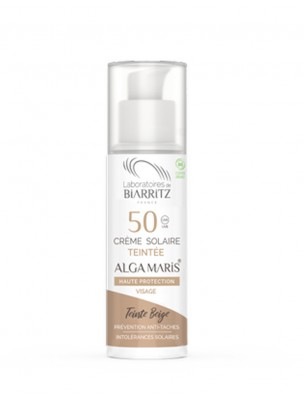 Crème Solaire Visage Teintée SPF50 Bio - Ivoire 50 ml - Les Laboratoires de Biarritz
