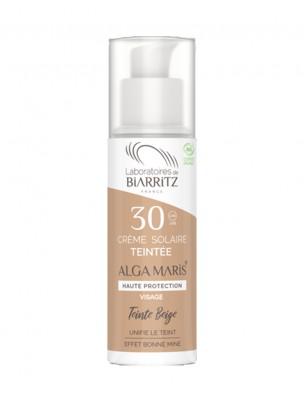 Crème Solaire Visage Teintée SPF30 Bio - Beige 50 ml - Les Laboratoires de Biarritz