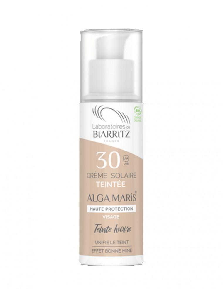 Crème Solaire Visage Teintée SPF30 Bio - Ivoire 50 ml - Les Laboratoires de Biarritz