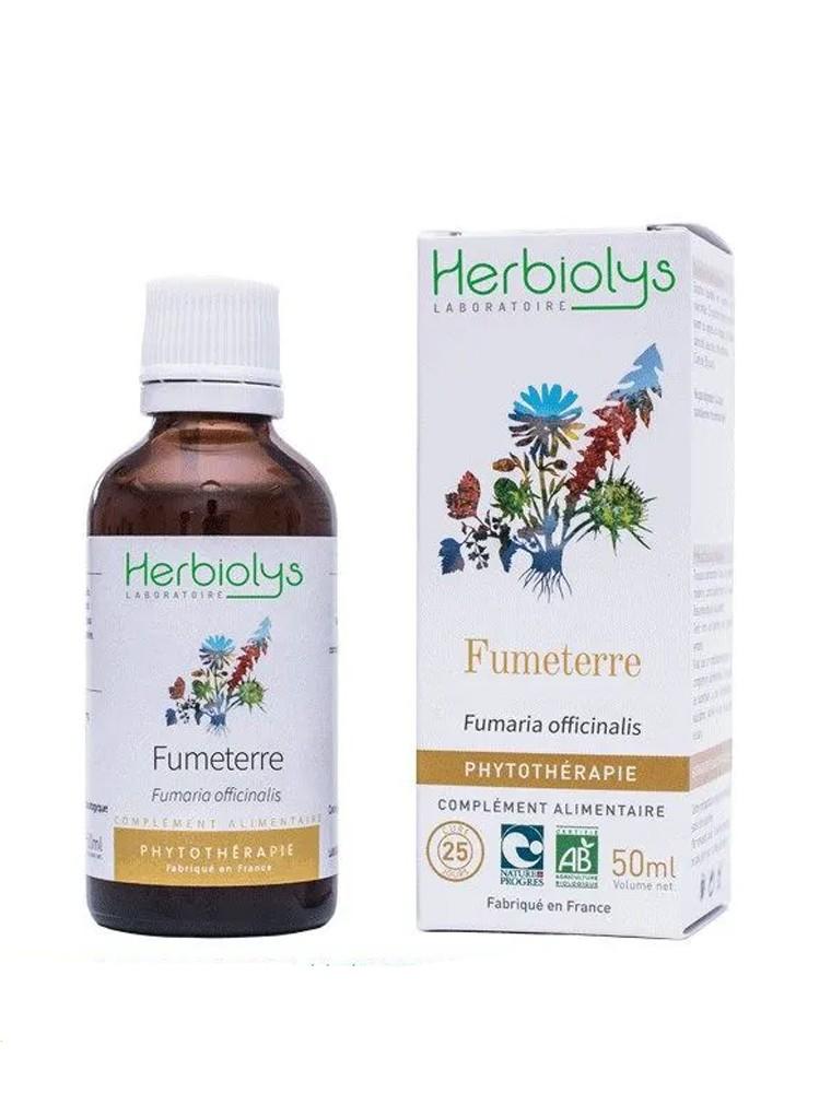 Fumeterre Bio - Foie Teinture-mère Fumaria officinalis 50 ml - Herbiolys