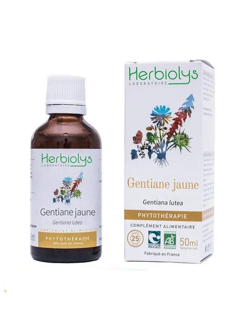 Gentiane jaune - Tonique Teinture-mère Gentiana lutea 50 ml - Herbiolys