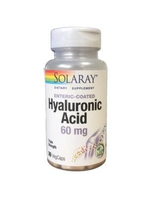 Acide hyaluronique 60 mg - Peau et Articulations 30 capsules - Solaray