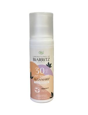 Lait Solaire Visage SPF30 Bio - Soin du visage 100 ml - Les Laboratoires de Biarritz