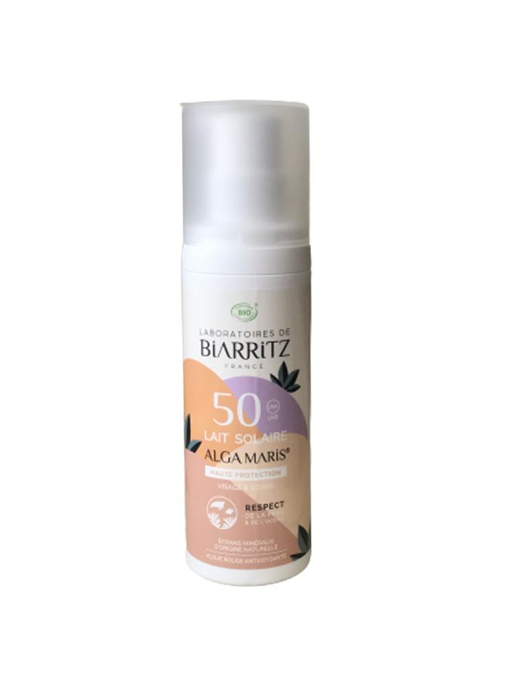 Lait Solaire Visage SPF50 Bio - Soin du visage 100 ml - Les Laboratoires de Biarritz