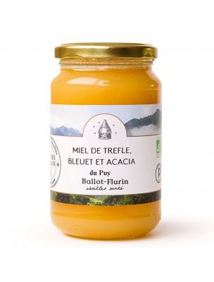 Miel de Trèfle, Bleuet et Acacia Bio 480g - Miel Doux - Ballot-Flurin