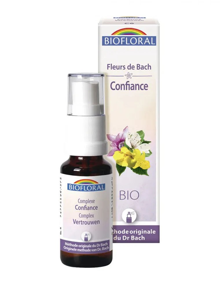 Confiance et Sérénité Bio C6 - Spray Complexe Bio aux Fleurs de Bach 20 ml - Biofloral