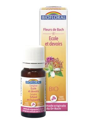 Complexe Ecole et Devoirs C34 Bio - Fleurs de Bach Granules 10 ml - Biofloral
