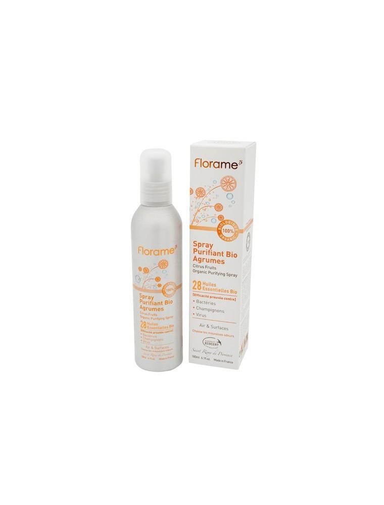 Spray Purifiant Agrumes Bio - Aux 28 huiles essentielles 180 ml - Florame