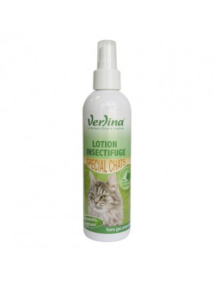Lotion Insectifuge Chats - Parasites externes 250 ml - Verlina