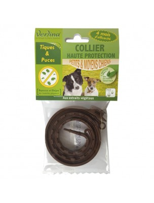 Collier Tiques et Puces Chiens - Insectifuge 1 Collier - Verlina