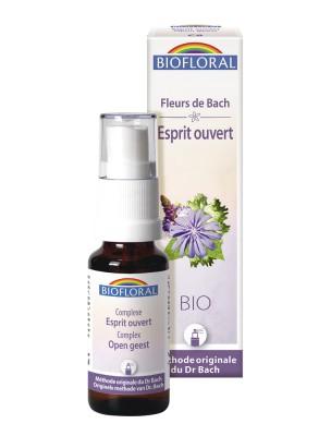 Esprit ouvert N°8 - Spray Complexe Bio aux Fleurs de Bach 20 ml - Biofloral