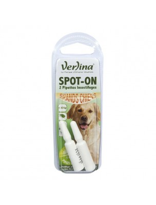 Spot-On Grands Chiens - Insectifuge 2 pipettes - Verlina