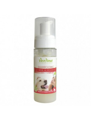 Shampooing Mousse Tiques et Puces - Chiens 150 ml - Verlina