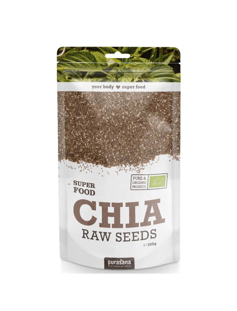 Graines de Chia Bio - Fibres et Nutriments SuperFoods 200g - Purasana