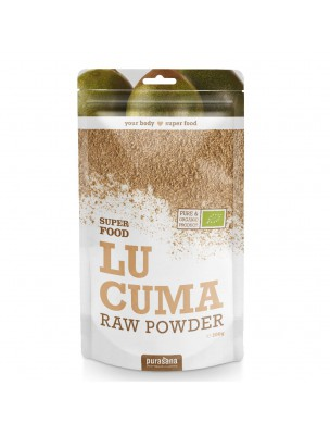 Lucuma en poudre Bio - Phytonutriments et Vitamines B SuperFoods 200g - Purasana