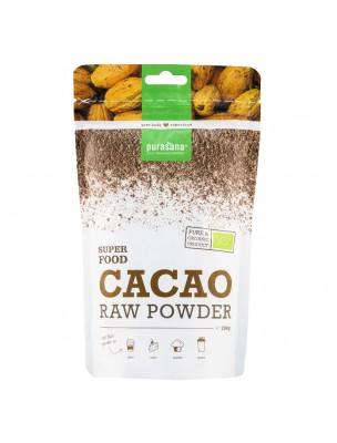 Poudre de Cacao Bio - Magnésium et Antioxydants SuperFoods 200g - Purasana