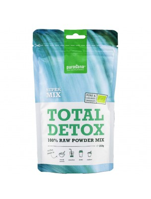 Total Detox 100% Raw Powder Mix Bio - Cure Détox SuperFoods 250g - Purasana