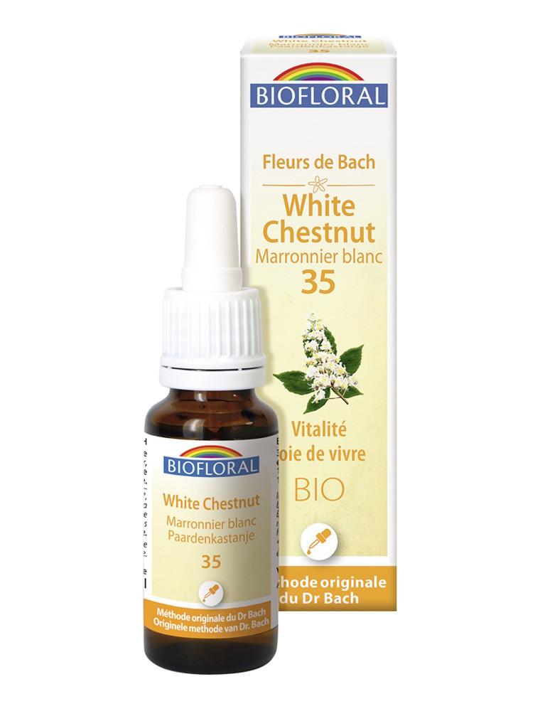 White chesnut n°35 - Vitalité et Joie de Vivre Bio aux Fleurs de Bach 20 ml - Biofloral