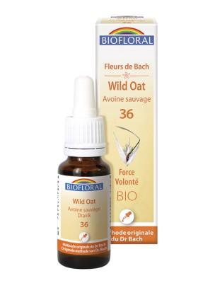 Wild oat n°36 - Force et Volonté Bio aux Fleurs de Bach 20 ml - Biofloral