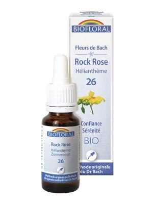 Rock rose (Hélianthème) n°26 - Sérénité et Confiance Bio aux Fleurs de Bach 20 ml - Biofloral