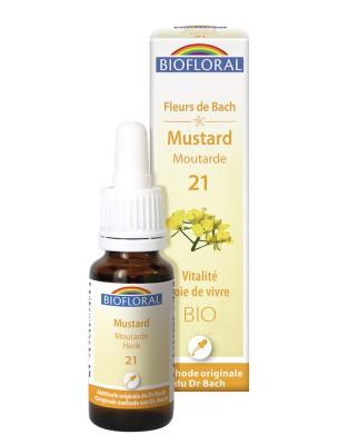 Mustard Moutarde n°21 - Tristesse et Mélancolie Bio aux fleurs de Bach 15 ml - Biofloral