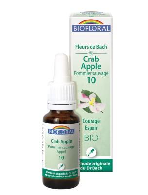Crab Apple Pommier n°10 - Courage et Espoir Bio aux Fleurs de Bach 20 ml - Biofloral