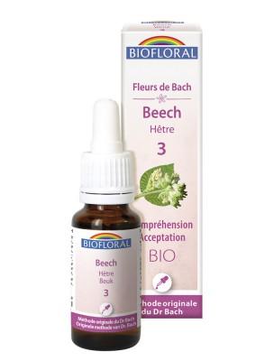 Beech Hêtre n°3 - Acceptation et Compréhension Bio aux Fleurs de Bach 20 ml - Biofloral