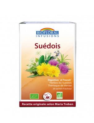Elixir du Suédois Bio - Digestion et Vitalité 20 infusettes - Biofloral