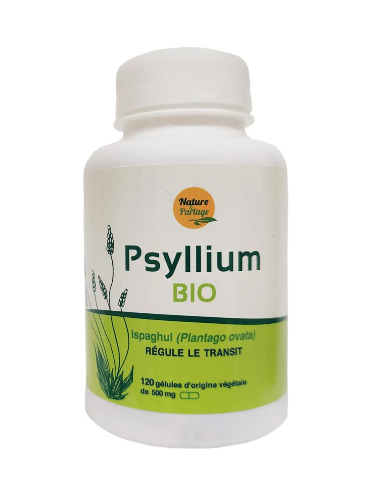 Psyllium Bio - Régule le transit 120 gélules - Nature et Partage