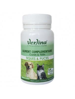 Tiques et Puces - Parasitisme des Chiens et des Chats 60 comprimés - Verlina