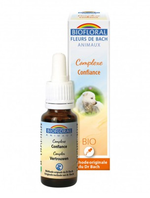 Complexe Confiance Bio - Fleurs de Bach pour Animaux 20 ml - Biofloral