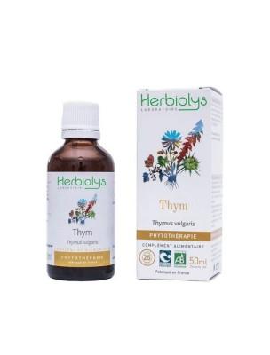 Thym Bio - Digestion et Tonus Teinture-mère Thymus vulgaris 50 ml - Herbiolys