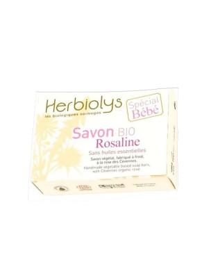 Savon Maman Bébé Rosaline Bio - Rose des Cévennes 100G - Herbiolys