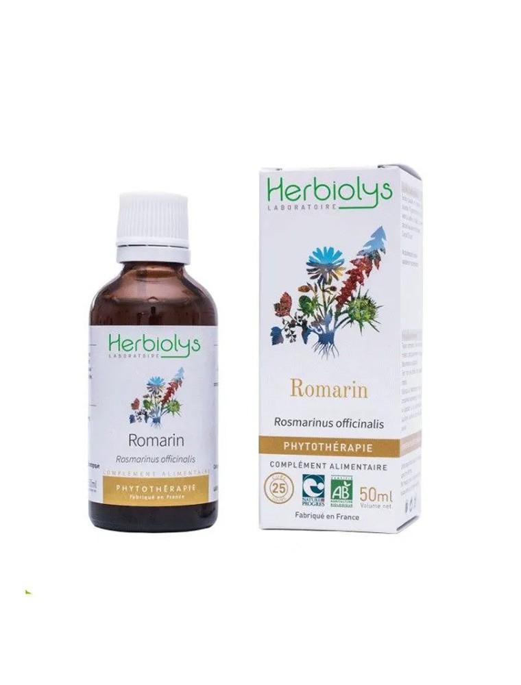 Romarin Bio - Digestion Teinture-mère Rosmarinus officinalis 50 ml - Herbiolys
