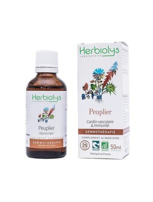 Peuplier Noir Macérât de bourgeon Bio - Circulation et Immunité 50 ml - Herbiolys
