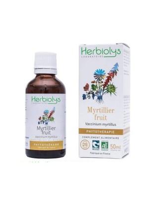 Myrtille (Fruit) Bio - Vue et Anti-oxydant Teinture-mère Vaccinum myrtillus 50 ml - Herbiolys