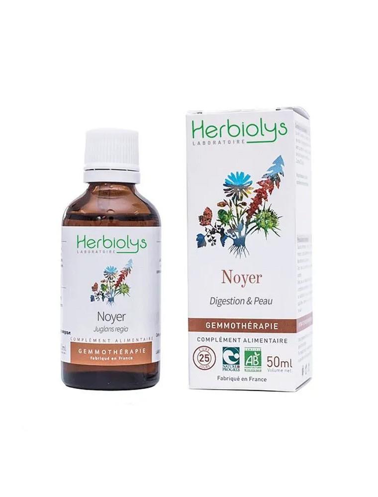 Noyer Macérât de bourgeon Bio - Peau et Digestion 50 ml - Herbiolys