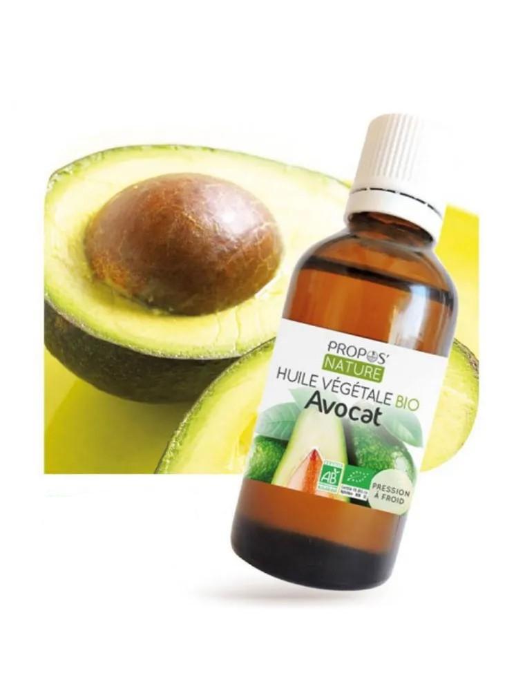 Avocat Bio - Huile végétale de Persea gratissima 50 ml - Propos Nature
