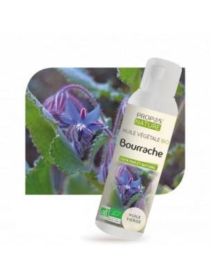 Bourrache Bio - Huile végétale de Borago officinalis 100 ml - Propos Nature