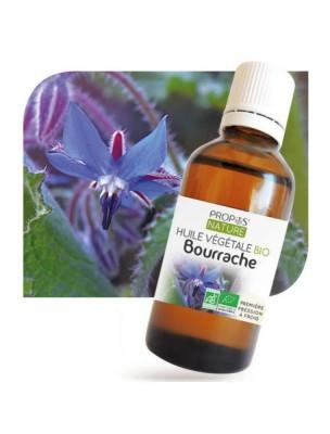 Bourrache Bio - Huile végétale de Borago officinalis 50 ml - Propos Nature