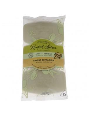 Savons Extra-Doux Argile Verveine Bio - Purifiant et Equilibrant 3x150 g - Rampal Latour