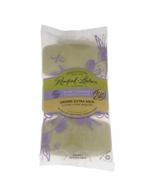 Savons Extra-Doux Olive Lavandin Bio - Rafraîchissant et Apaisant 3x150 g - Rampal Latour